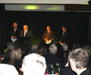 Alan Woodward accepts museum award September 2012.