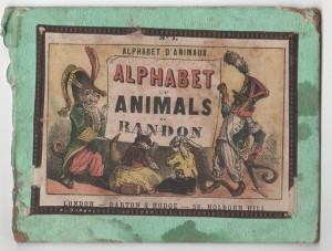 Alphabet Animals in French/English c1860s