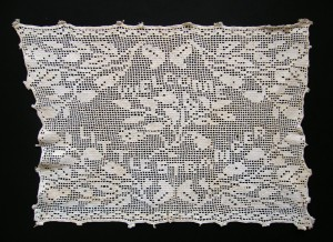 Newborn's Cushion Cover c1900.  Port Collection.