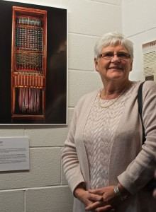 Lorraine Wootton, former switchboard operator at the 'Party Lines' exhibition launch.